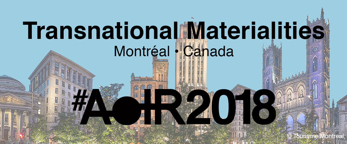 AoIR2018 Transnational Materialities logo